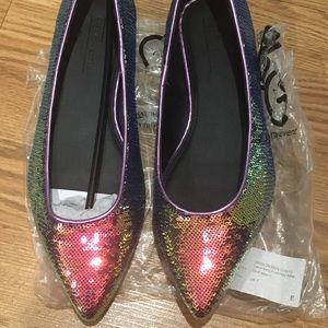 Size 9 Wide Sequin Party Shoes ASOS